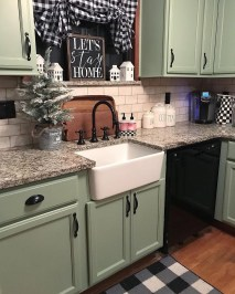 Magnificient Kitchen Cabinet Curtain Ideas To Look Stunning 21