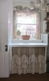Magnificient Kitchen Cabinet Curtain Ideas To Look Stunning 23