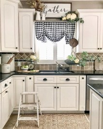 Magnificient Kitchen Cabinet Curtain Ideas To Look Stunning 24