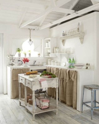 Magnificient Kitchen Cabinet Curtain Ideas To Look Stunning 26