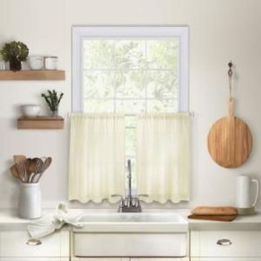 Magnificient Kitchen Cabinet Curtain Ideas To Look Stunning 30