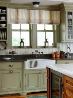 Magnificient Kitchen Cabinet Curtain Ideas To Look Stunning 35