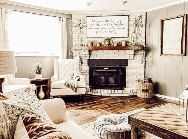 Admiring Fireplace Décor Ideas For Cottage To Try 27