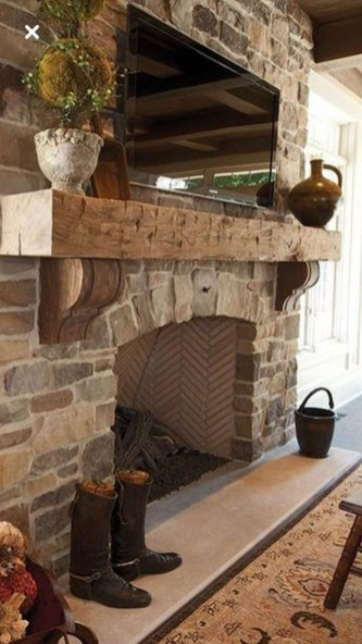 Admiring Fireplace Décor Ideas For Cottage To Try 28