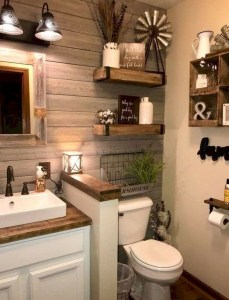Adorable Farmhouse Bathroom Decor Ideas That Looks Cool 01