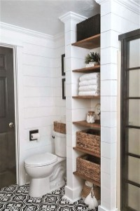 Adorable Farmhouse Bathroom Decor Ideas That Looks Cool 34