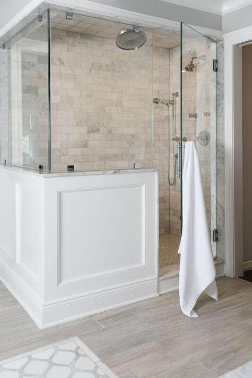 Astonishing Farmhouse Shower Tile Decor Ideas To Try 17