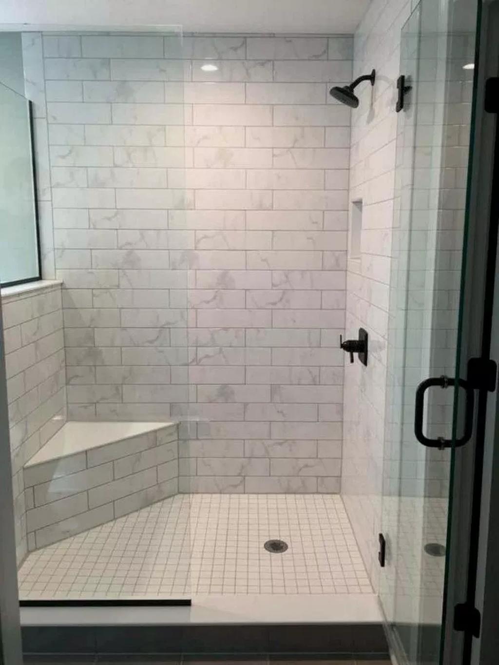 Astonishing Farmhouse Shower Tile Decor Ideas To Try 32