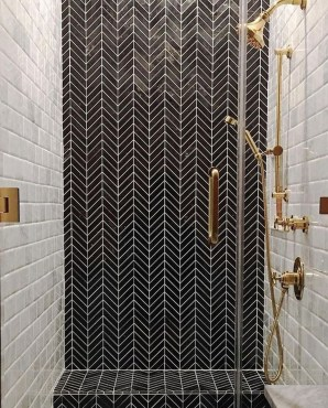 Astonishing Farmhouse Shower Tile Decor Ideas To Try 43