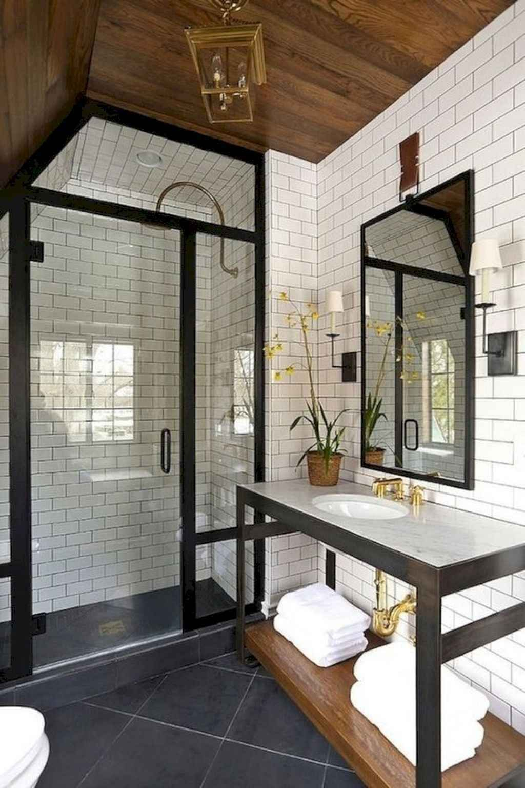 Astonishing Farmhouse Shower Tile Decor Ideas To Try 45
