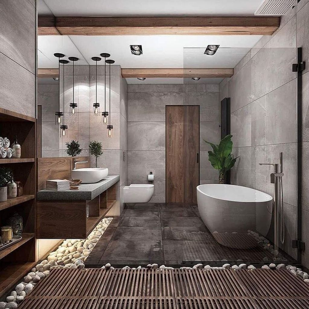 Best Contemporary Bathroom Design Ideas To Try 34