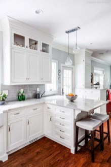 Comfy White Kitchen Cabinets Design Ideas To Try 21