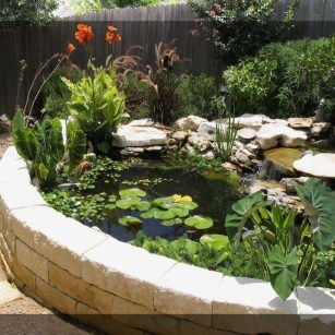 Cool Fish Pond Garden Landscaping Ideas For Backyard 08