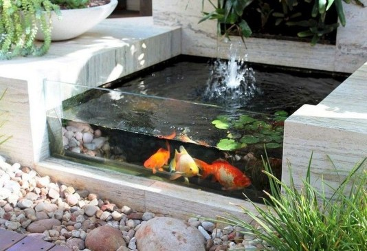 Cool Fish Pond Garden Landscaping Ideas For Backyard 13