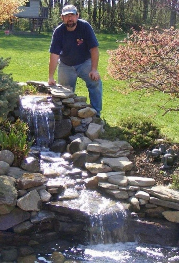 Cool Fish Pond Garden Landscaping Ideas For Backyard 16