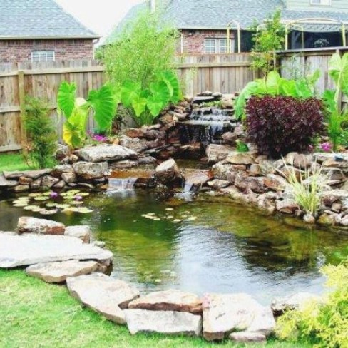 Cool Fish Pond Garden Landscaping Ideas For Backyard 39