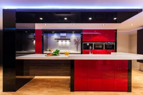 Cool Kitchen Designs Idas With Tones Of Vibrant Colors That You Must See 34