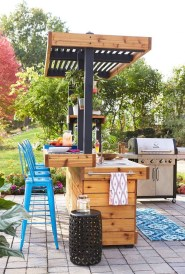 Cozy Outdoor Kitchen Decor Ideas For You 14