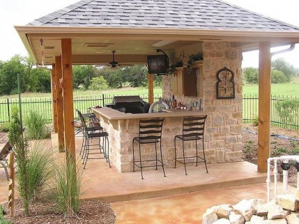 Cozy Outdoor Kitchen Decor Ideas For You 30