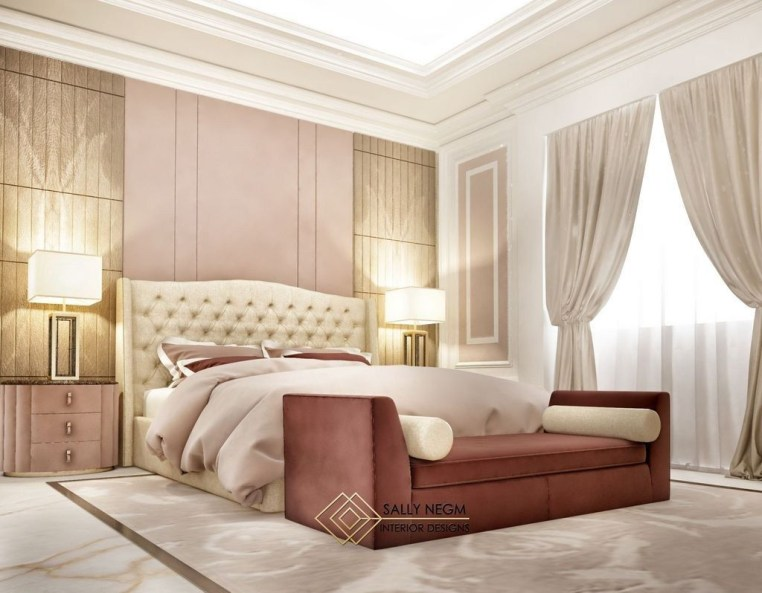 Fancy Champagne Bedroom Design Ideas To Try 13