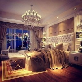 Fancy Champagne Bedroom Design Ideas To Try 21