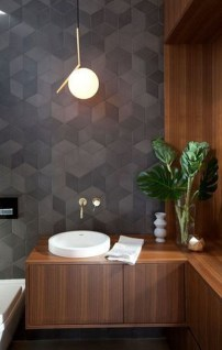 Inspiring Small Bathroom Design Ideas With Wood Decor To Inspire 27
