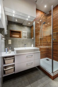 Inspiring Small Bathroom Design Ideas With Wood Decor To Inspire 46