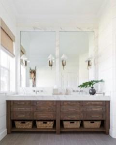 Inspiring Small Bathroom Design Ideas With Wood Decor To Inspire 47