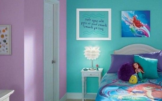 Magnificient Mermaid Themes Ideas For Children Kids Room 03
