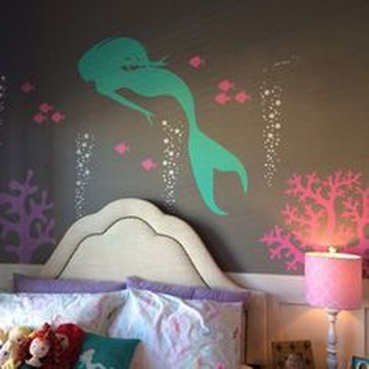 Magnificient Mermaid Themes Ideas For Children Kids Room 04