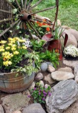 Modern Flower Beds Rocks Ideas For Front House To Try 03