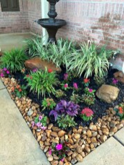 Modern Flower Beds Rocks Ideas For Front House To Try 14