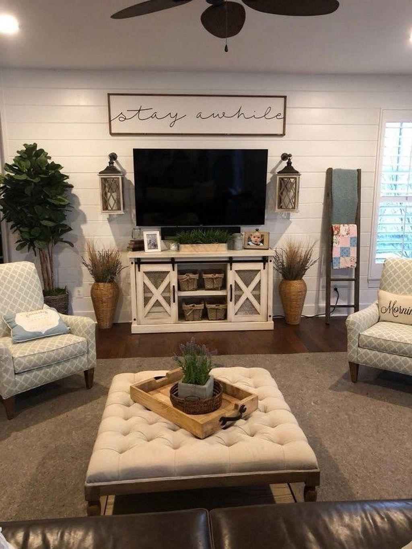 Splendid Farmhouse Living Room Decor Ideas 02