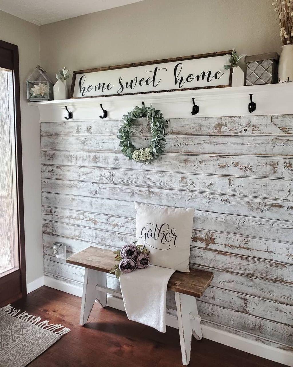 Splendid Farmhouse Living Room Decor Ideas 18