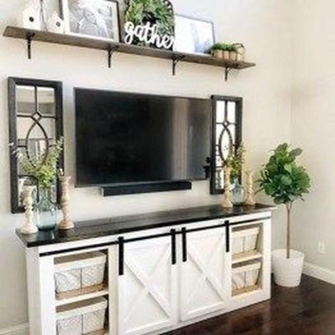 Splendid Farmhouse Living Room Decor Ideas 24