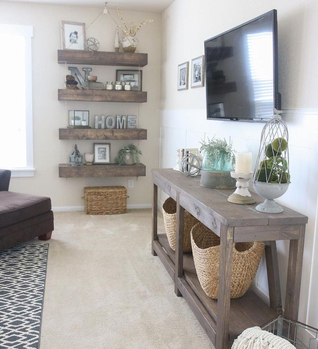 Splendid Farmhouse Living Room Decor Ideas 25