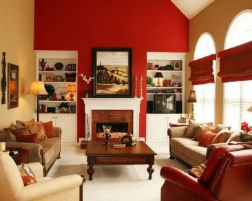 Superb Red Apartment Ideas With Rustic Accents 24
