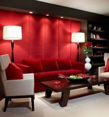 Superb Red Apartment Ideas With Rustic Accents 28