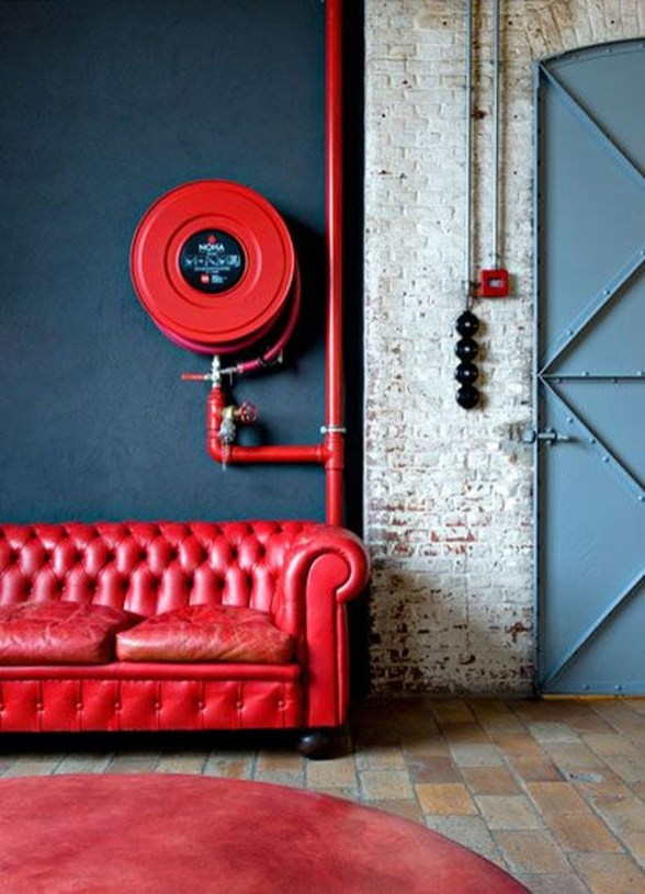Superb Red Apartment Ideas With Rustic Accents 48