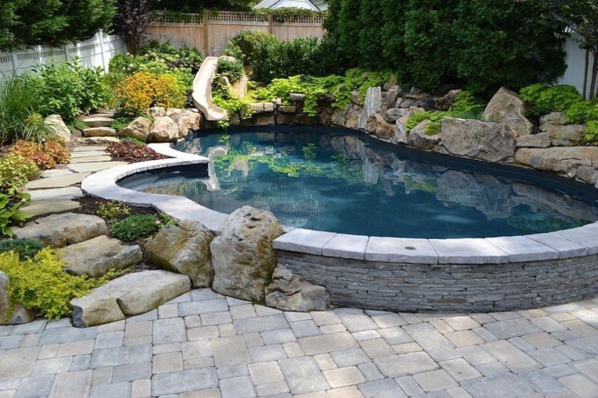 Top Natural Small Pool Design Ideas To Copy Asap 39