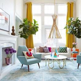 Comfortable And Modern Mid Century Living Room Design Ideas 01