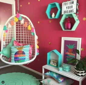 Cute And Girly Pink Bedroom Design For Your Home 35