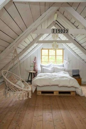 Elegant Small Attic Bedroom For Your Home 01