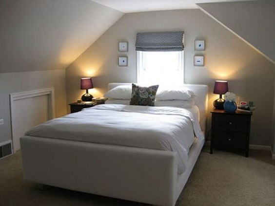 Elegant Small Attic Bedroom For Your Home 03