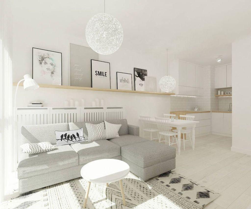 Gorgeous Scandinavian Living Room Design Ideas 39