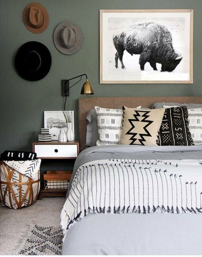 Masculine And Modern Man Bedroom Design Ideas 11