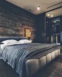 Masculine And Modern Man Bedroom Design Ideas 28
