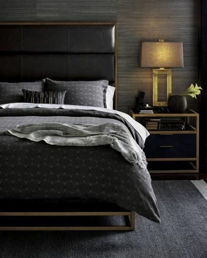 Masculine And Modern Man Bedroom Design Ideas 31