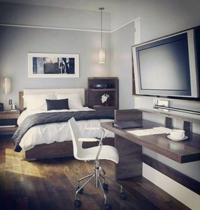 Masculine And Modern Man Bedroom Design Ideas 33