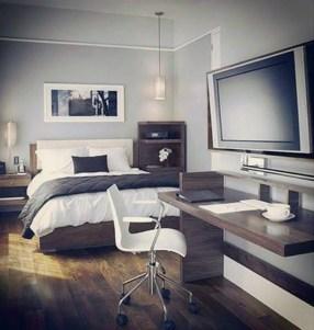 Masculine And Modern Man Bedroom Design Ideas 33